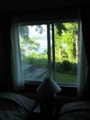 部屋からも湖がよく見えました。